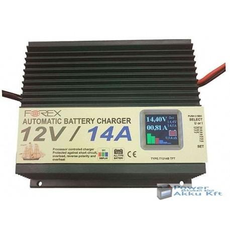 12V 14A TFT automata akkumulátortöltő T1214TFT