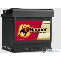 Banner Running Bull 550 01 AGM 12V 50Ah 540A jobb+ akkumulátor