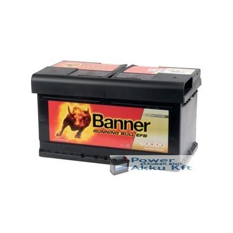 Banner Running Bull EFB 575 12 12 V 75Ah 730A jobb+ akkumulátor