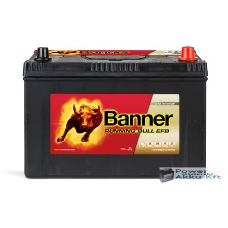 Banner Running Bull EFB 12V 95Ah 760A Jobb+ japán akkumulátor