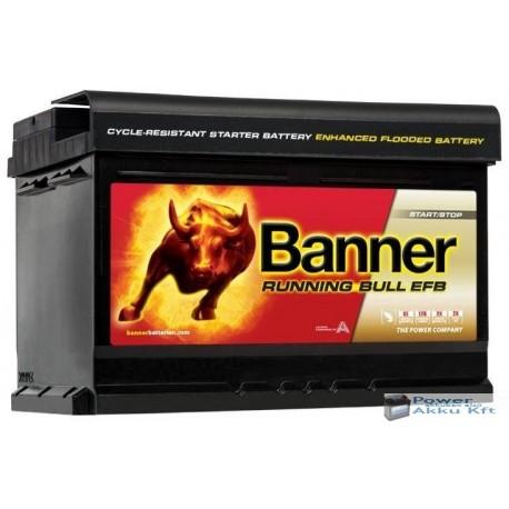 Banner Running Bull EFB 565 12 12 V 65Ah 650A jobb+ akkumulátor