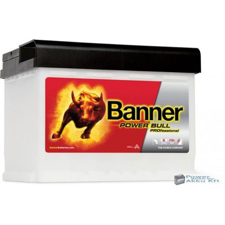 Banner Power Bull Pro. 12V 63Ah 600A jobb+ akkumulátor