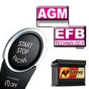 AGM - EFB Start-Stop akkumulátorok
