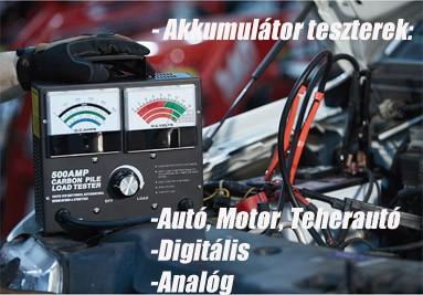 Akkumulátor teszterek