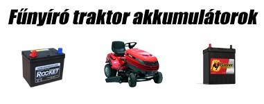 Fűnyíró traktor akkumulátorok