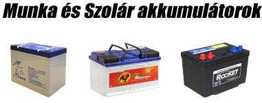 Munka és szolár akkumulátor